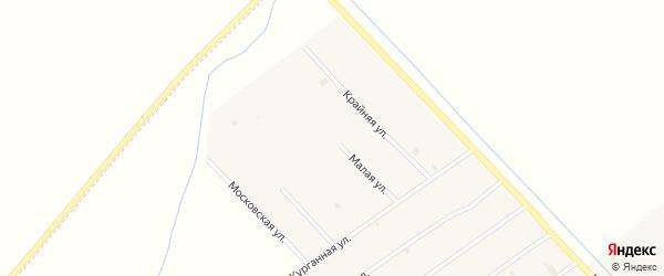 Малая улица на карте села Ачхой-мартана с номерами домов
