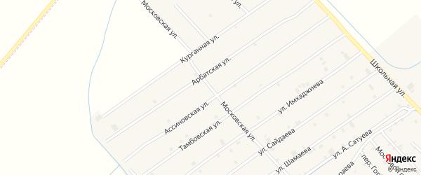 Московская улица на карте села Ачхой-мартана с номерами домов