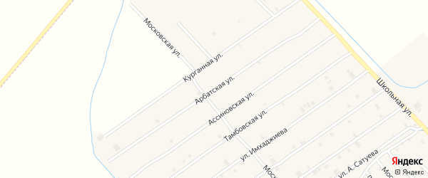 Арбатская улица на карте села Ачхой-мартана с номерами домов