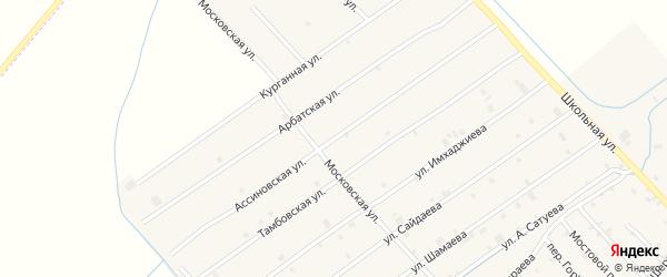 Ассиновская улица на карте села Ачхой-мартана с номерами домов