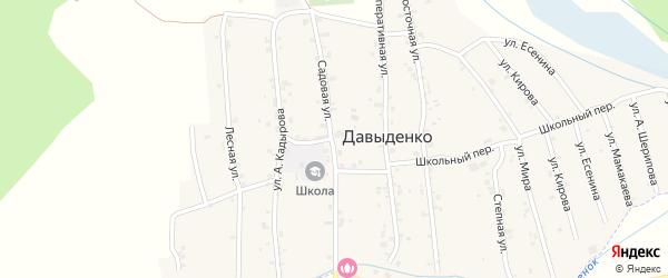 Садовая улица на карте села Давыденко с номерами домов