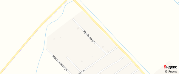Крайняя улица на карте села Ачхой-мартана с номерами домов