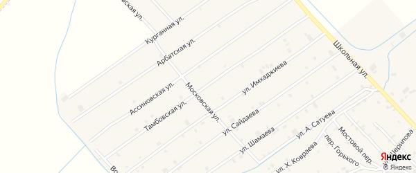 Тамбовская улица на карте села Ачхой-мартана с номерами домов