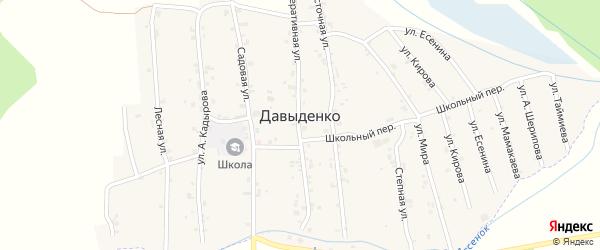 Родниковая улица на карте села Давыденко с номерами домов