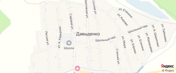 Улица М.Мамакаева на карте села Давыденко с номерами домов