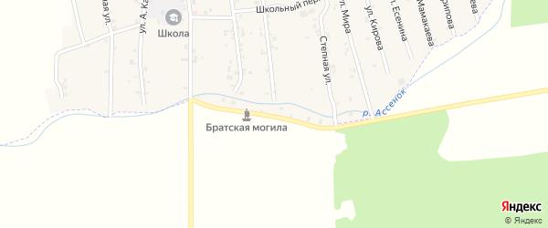 Заречная улица на карте села Давыденко с номерами домов