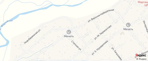Правобережная улица на карте села Ачхой-мартана с номерами домов