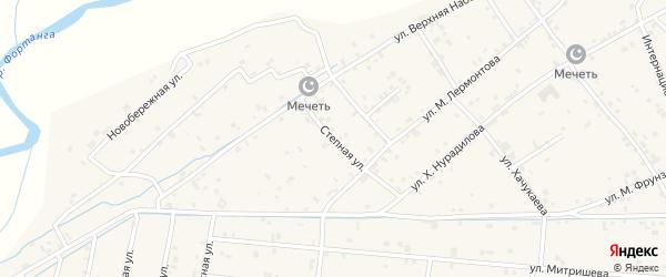 Степная улица на карте села Ачхой-мартана с номерами домов