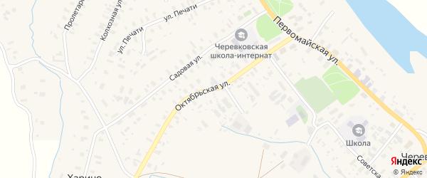 Октябрьская улица на карте села Черевково с номерами домов