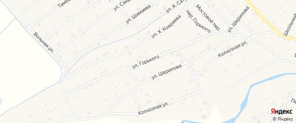 Улица М.Горького на карте села Ачхой-мартана с номерами домов