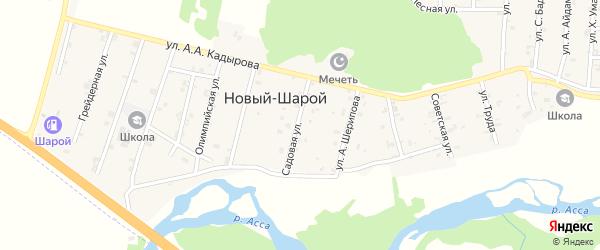 Улица А.Шерипова на карте села Новый-Шарой с номерами домов