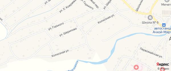 Колхозная улица на карте села Ачхой-мартана с номерами домов