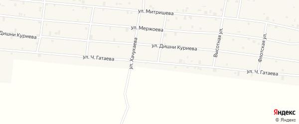 Улица Ч.Гатаева на карте села Ачхой-мартана с номерами домов