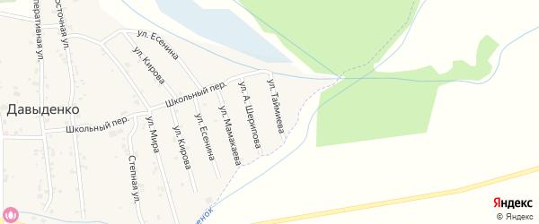 Улица Б.Таймиева на карте села Давыденко с номерами домов