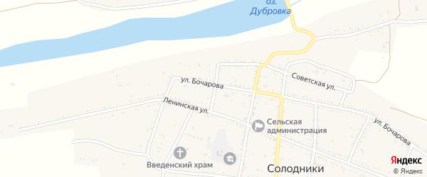 Колхозный переулок на карте села Солодники с номерами домов