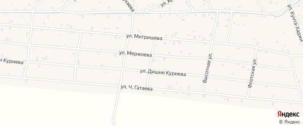 Свердловская улица на карте села Ачхой-мартана с номерами домов