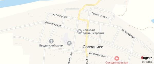 Ленинская улица на карте села Солодники с номерами домов
