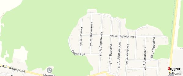Улица М.Висаитова на карте села Новый-Шарой с номерами домов