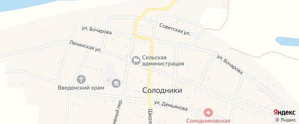 Почтовый переулок на карте села Солодники с номерами домов