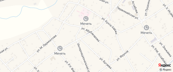 Улица Х.Нурадилова на карте села Ачхой-мартана с номерами домов