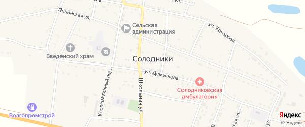 Зеленый сад на карте села Солодники с номерами домов