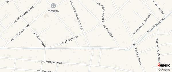 Интернациональная улица на карте села Ачхой-мартана с номерами домов