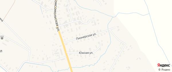 Пионерская улица на карте села Черевково с номерами домов