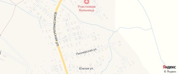 Пионерский переулок на карте села Черевково с номерами домов