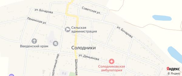 Московский переулок на карте села Солодники с номерами домов