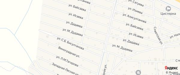 Улица Ш.Ш.Дудаева на карте села Самашки с номерами домов