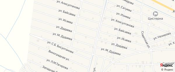 Улица М.Р.Дадаева на карте села Самашки с номерами домов