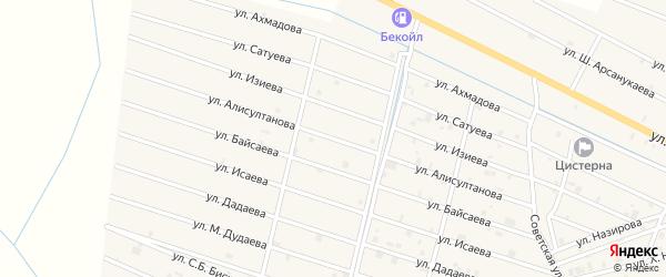Улица Я.Алисултанова на карте села Самашки с номерами домов