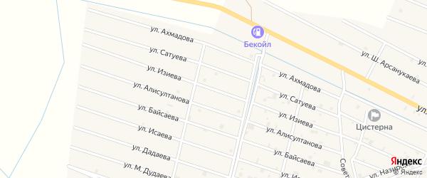 Улица И.З.Изиева на карте села Самашки с номерами домов
