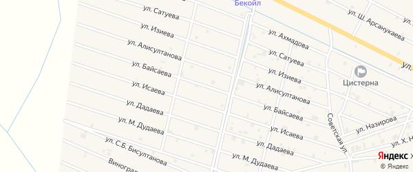 Улица Ю.Б.Байсаева на карте села Самашки с номерами домов