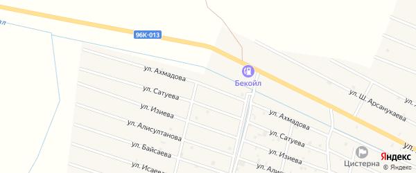 Улица М.Ш.Ахмадова на карте села Самашки с номерами домов