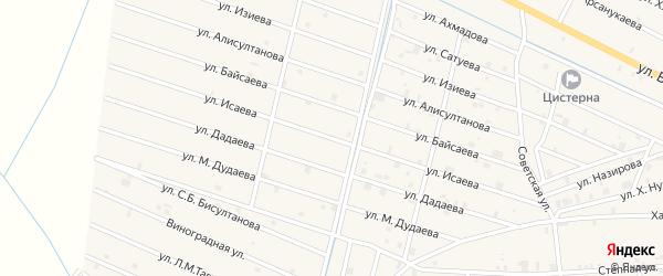 Улица Х.А.Исаева на карте села Самашки с номерами домов
