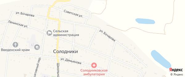 Мирный переулок на карте села Солодники с номерами домов