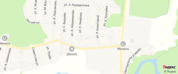 Улица Б.Саидова на карте села Новый-Шарой с номерами домов