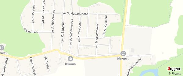 Улица А.Мамакаева на карте села Новый-Шарой с номерами домов