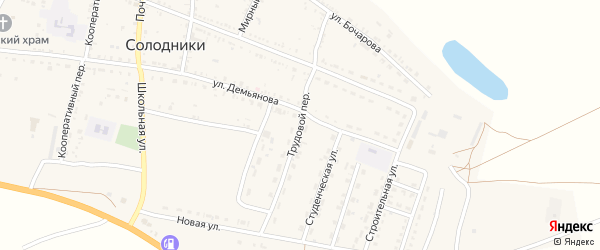 Трудовой переулок на карте села Солодники с номерами домов