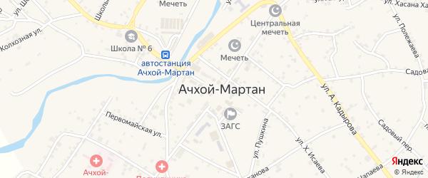 Почтовая улица на карте села Ачхой-мартана с номерами домов