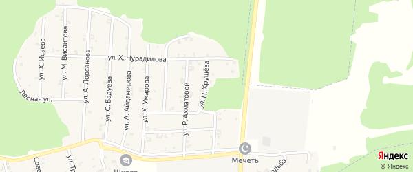 Улица Н.Хрущева на карте села Новый-Шарой с номерами домов
