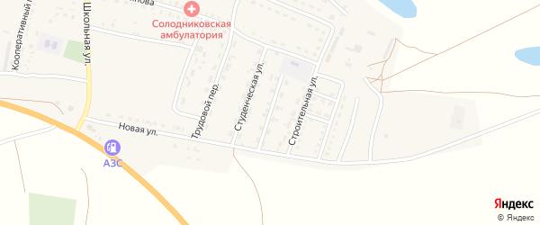 Улица Механизаторов на карте села Солодники с номерами домов