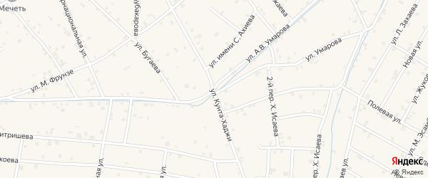 Улица Кунта-Хаджи на карте села Ачхой-мартана с номерами домов