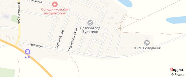 Строительная улица на карте села Солодники с номерами домов