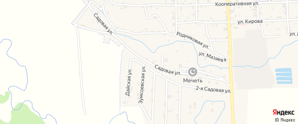 Садовая улица на карте села Самашки с номерами домов