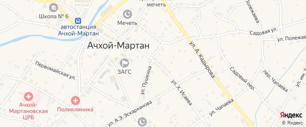 Улица А.С.Пушкина на карте села Ачхой-мартана с номерами домов