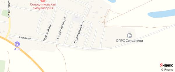 Мелиоративная улица на карте села Солодники с номерами домов