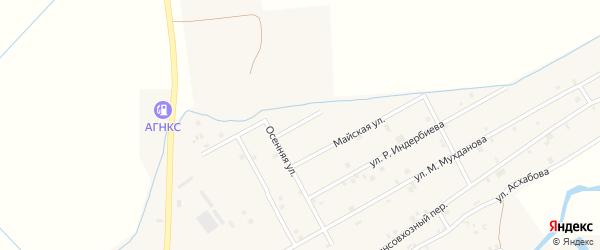 Осенний переулок на карте села Ачхой-мартана с номерами домов