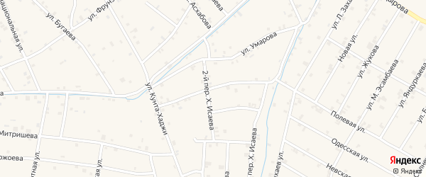Переулок Кунта-Хаджи на карте села Ачхой-мартана с номерами домов